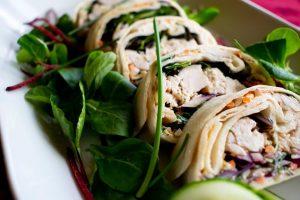 Buffet catering Birmingham: chicken wraps