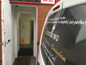 Birmingham's best catering service: unit entrance